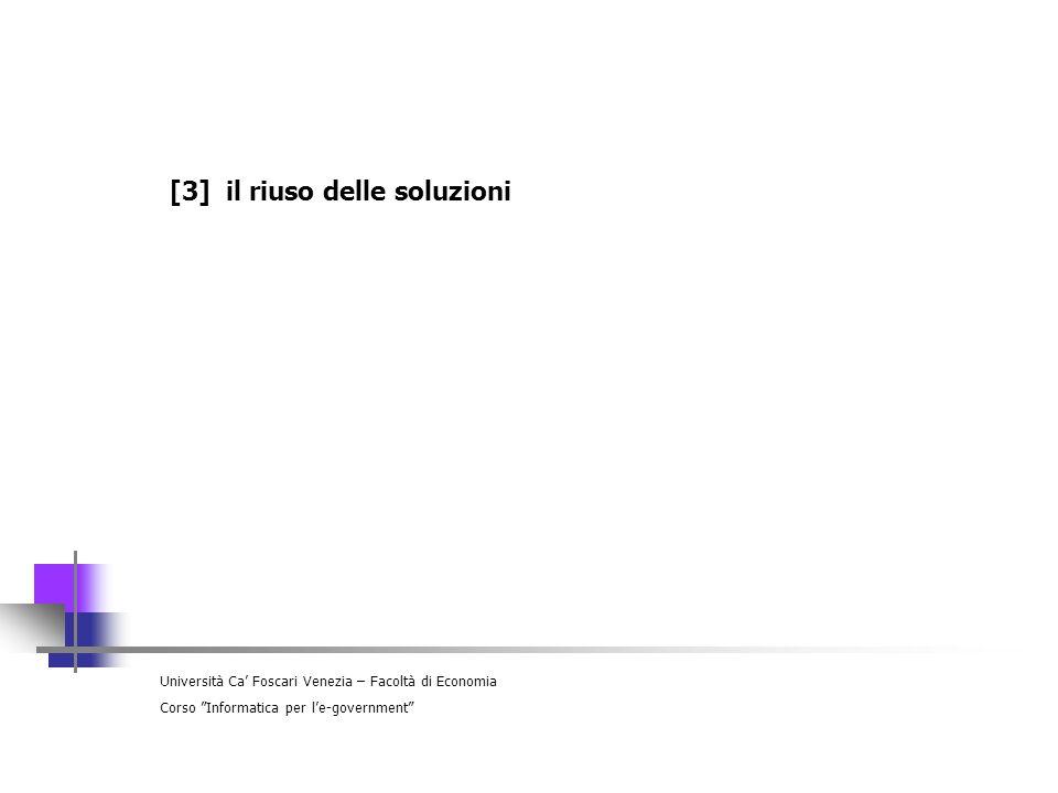 [3] il riuso delle soluzioni